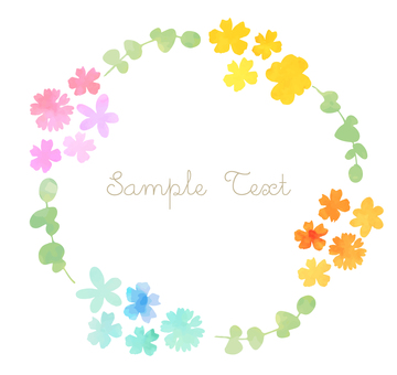Water color flower lease