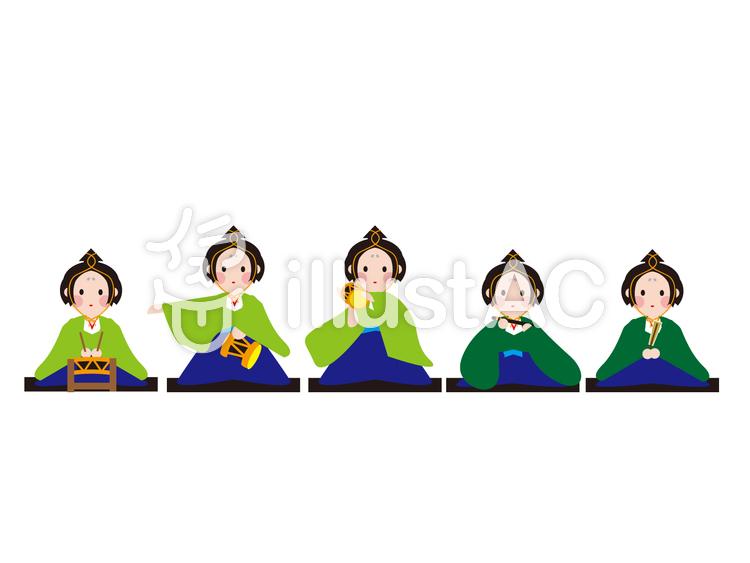 雛祭り 五人囃子イラスト No 340151無料イラストならイラストac