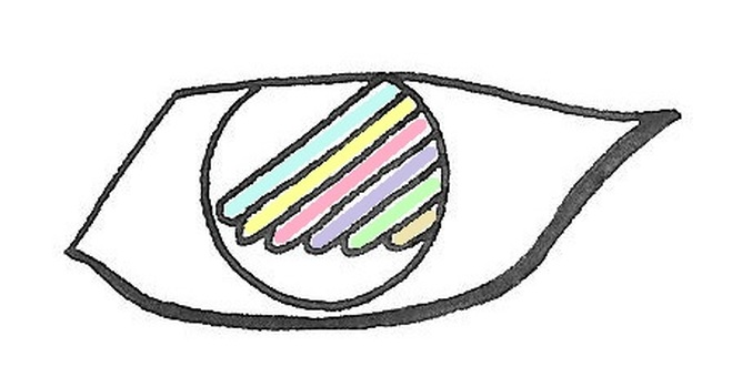 It is an eye. Color
