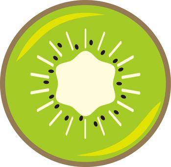 Kiwi fruit (cross section)