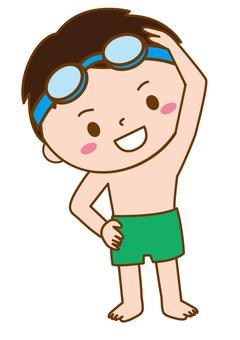 Gymnastics in children's swimwear 08