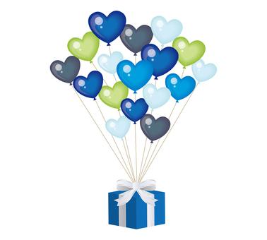 Valentine Material 05 (balloon 01 blue)