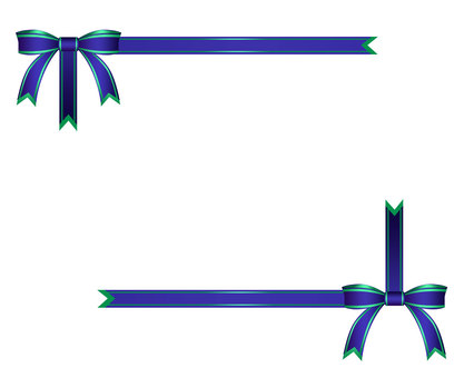 Blue ribbon frame