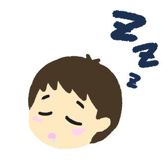 Sleeping boy right
