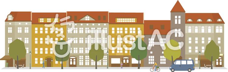 ヨーロッパの街並みイラスト No 1247548無料イラストならイラストac