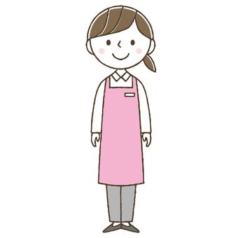 Caregiver, care worker, cute female helper