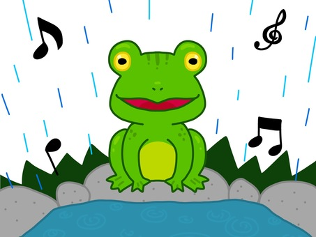Frog chorus in the pond