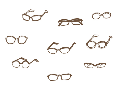 A variety of glasses