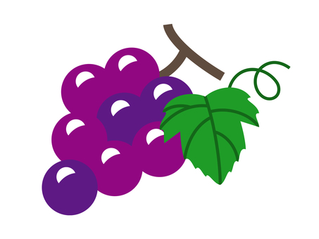 Grape with leaves
