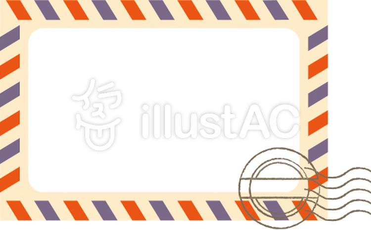 エアメールスタンプカードイラスト No 528860無料イラストなら