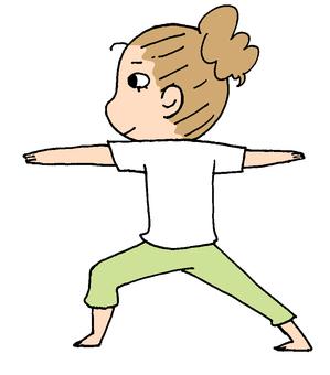 做瑜伽的女人