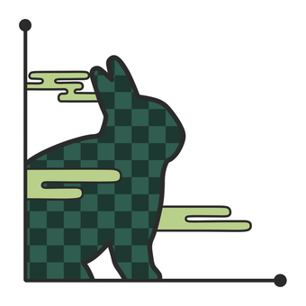 Japanese style rabbit green