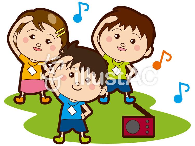 ラジオ体操をする子供たちイラスト No 188511無料イラストなら