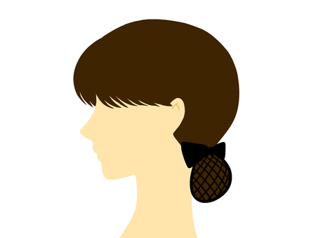 Profile of a woman who did a chignon