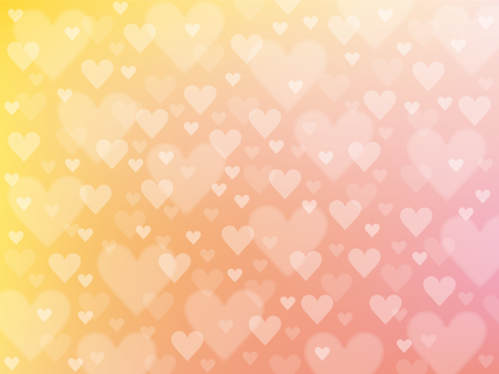 Heart background of warm color system