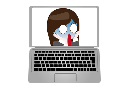 Woman pales online