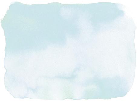 水彩画の背景-グレイッシュブルー