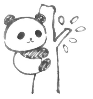 Tree climbing panda 1