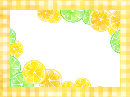 【Transparent】 Watercolor hand-painted fruit frame