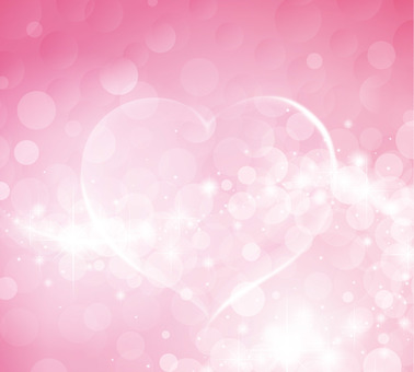 Pink heart symbol background material