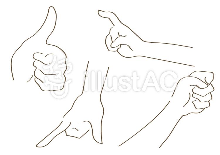 手の形寄せ集めイラスト No 479455無料イラストならイラストac