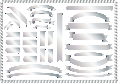 Ribbon Frame Background Ribbon Silver Silver picture