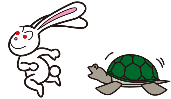 Rabbit and tortoise