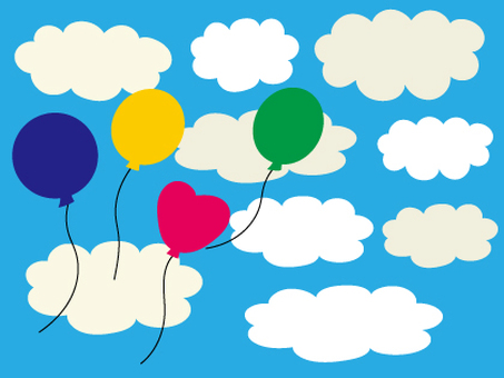 Sky and clouds and balloons