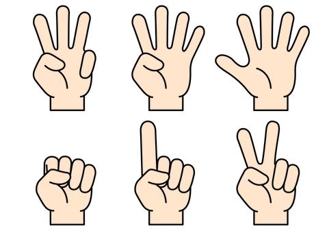 손가락 아이콘 7