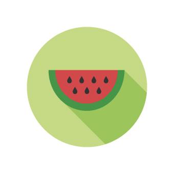 "Flat icon ""Summer in Japan"" Watermelon"