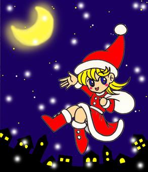 Santa chan of the snow