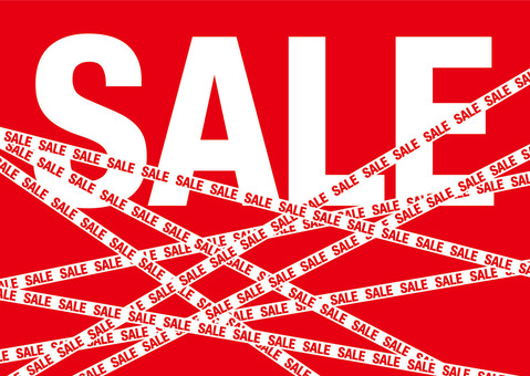 SALE sale tape (advertising / background material)