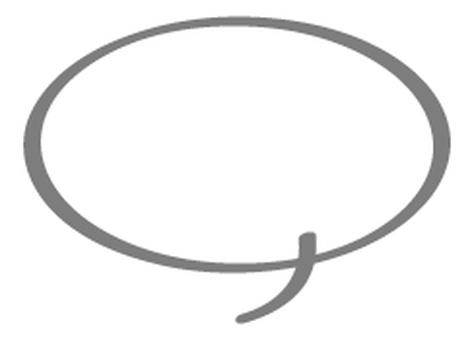 Line drawing balloon _ gray
