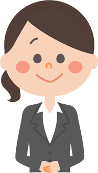 Recruit suit woman upright