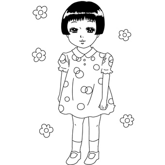 Showa Girl coloring page