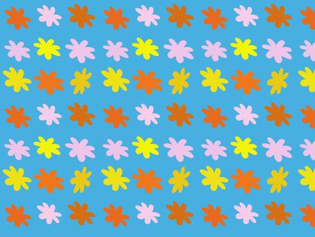 Scandinavian pop floral background / wallpaper