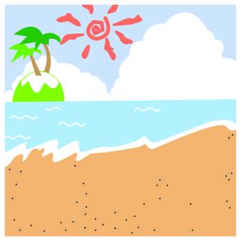 Summer sandy beach