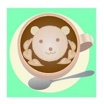 Latte art · Kuma
