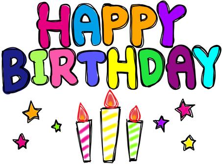 Happy birthday pop candle