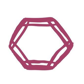 Japanese style frame (astringent red)