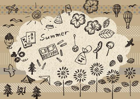 夏 1 カフェ風