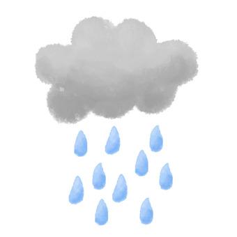 Rain cloud watercolor painting