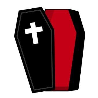 An empty coffin