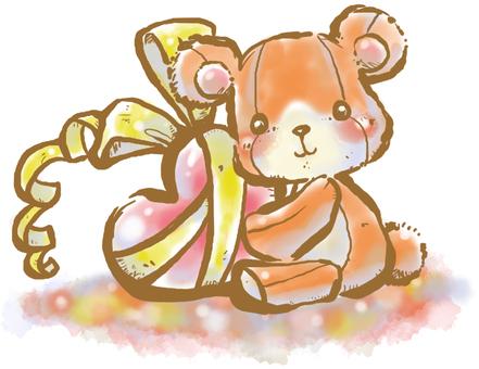 Present a bear heart