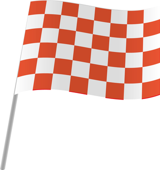 Checkered flag red