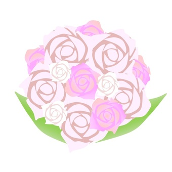 Pale pink rose bouquet