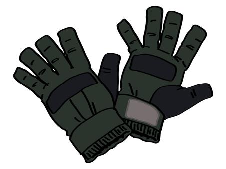 Ski gloves (gloves)