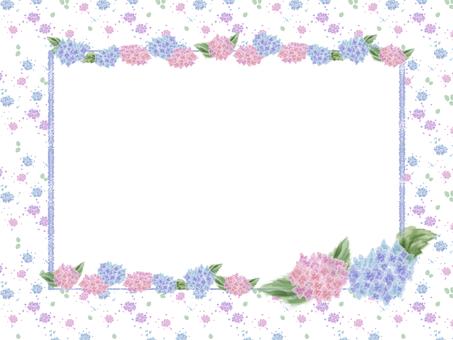花フレーム 25(紫陽花)