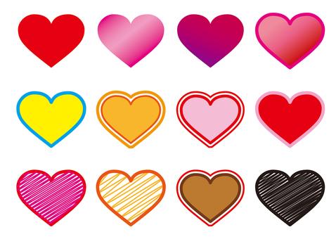 Heart mark various kinds B