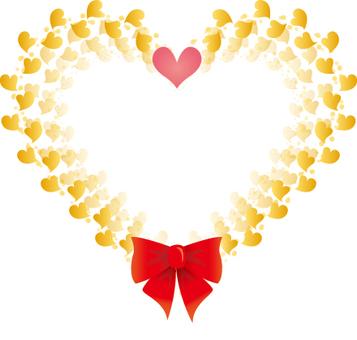 Gold heart message card